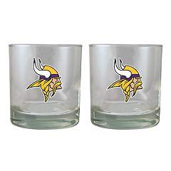 Minnesota Vikings Rocks Glass Set