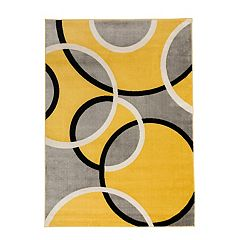 World Rug Gallery Toscana Contemporary Abstract Circles Rug