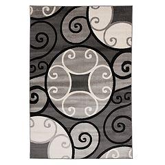 World Rug Gallery Toscana Modern Scroll Circles Rug