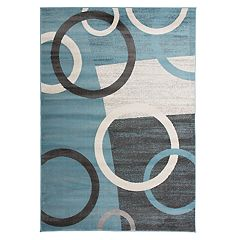 World Rug Gallery Toscana Modern Circles Shapes Rug
