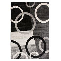 World Rug Gallery Toscana Modern Circles Shapes Rug