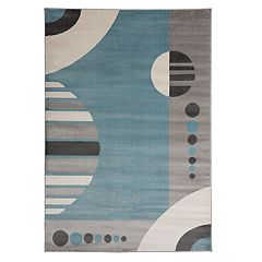 World Rug Gallery Toscana Contemporary Geometric Circles Rug