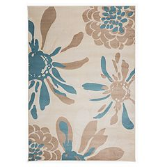 World Rug Gallery Toscana Modern Flowers Rug