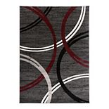 World Rug Gallery Toscana Modern Abstract Circles Rug