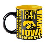 Boelter Iowa Hawkeyes Matte Black Coffee Mug