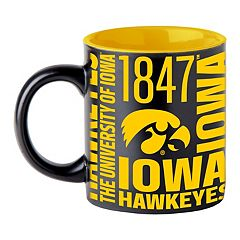 Boelter Iowa Hawkeyes Matte Black Coffee Mug