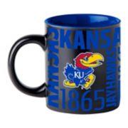 Boelter Kansas Jayhawks Matte Black Coffee Mug