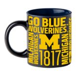 Boelter Michigan Wolverines Matte Black Coffee Mug