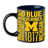 Boelter Michigan Wolverines Matte Black Coffee Mug