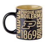 Boelter Purdue Boilermakers Matte Black Coffee Mug