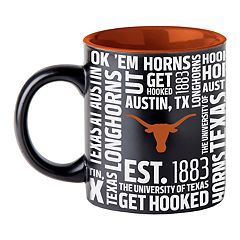 Boelter Texas Longhorns Matte Black Coffee Mug