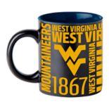 Boelter West Virginia Mountaineers Matte Black Coffee Mug