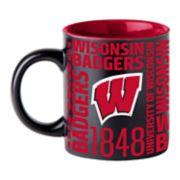 Boelter Wisconsin Badgers Matte Black Coffee Mug