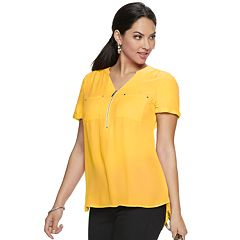 8e86b9ab Women's Apt. 9® Zipper Accent Blouse