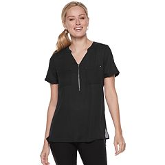 Women's Apt. 9® Zipper Accent Blouse