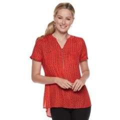 Womens Red Shirts Blouses Tops Clothing Kohl S