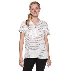 Women's Apt. 9® Zipper Accent Blouse