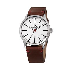 Joshua & Sons Men's Brown Leather Watch
