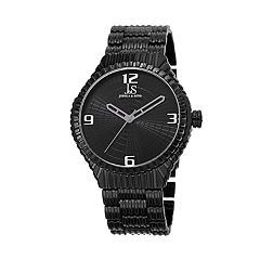 Joshua & Sons Men's Textured Dial Watch