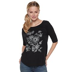 Women's Apt. 9® Embellished Graphic Tee