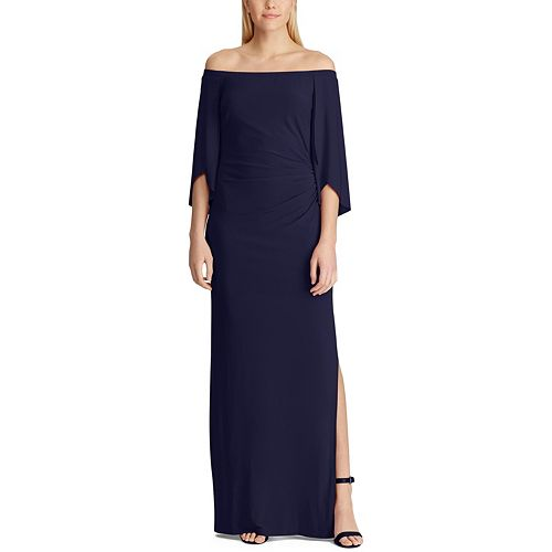 Women's Chaps Off-the-Shoulder Evening Dress