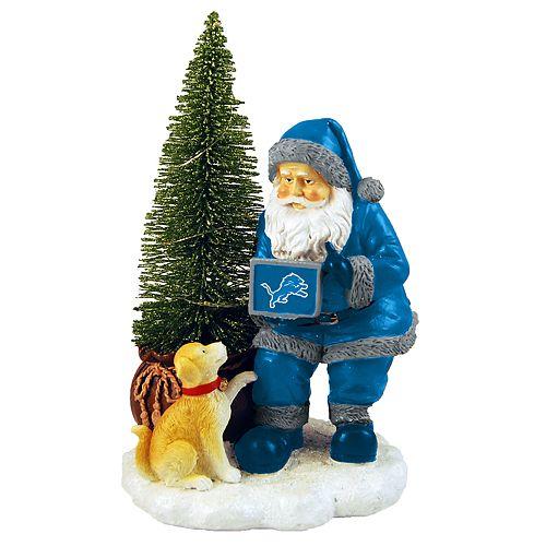 f6d19e7c Detroit Lions Santa with LED Christmas Tree Figurine