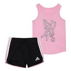 Girls 4-6x adidas Graphic Tank Top & Shorts Set
