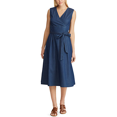 Women's Chaps Surplice Fit & Flare Chambray Dress