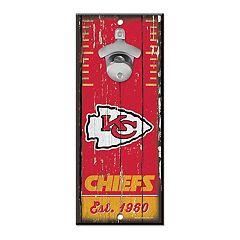 Kansas City Chiefs Wall-Mount Bottle Opener