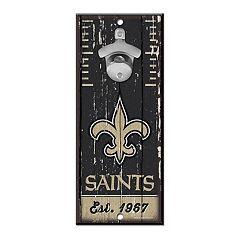 New Orleans Saints Wall-Mount Bottle Opener