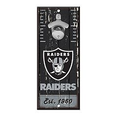 Oakland Raiders Wall-Mount Bottle Opener