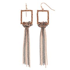 Jennifer Lopez Multi Chain Fringe Tassel Drop Earrings
