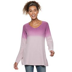 Petite SONOMA Goods for Life™ Supersoft Waffle V-Neck Tunic