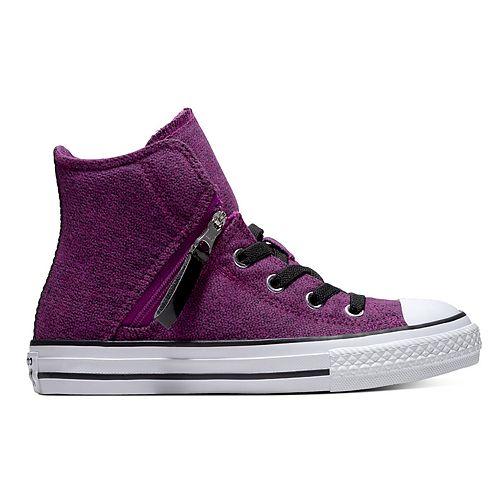 394b44993d74 Girls  Converse Chuck Taylor All Star Pull-Zip High Top Shoes