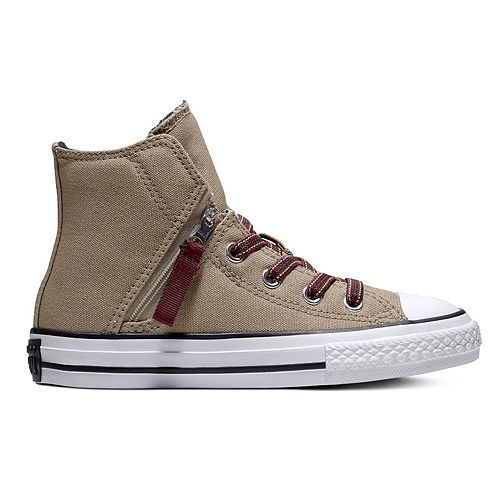 Boys  Converse Chuck Taylor All Star Pull-Zip High Top Shoes 0b23a4241