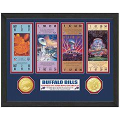 Highland Print Buffalo Bills Framed Super Bowl Ticket