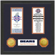 Highland Print Chicago Bears Framed Super Bowl Ticket