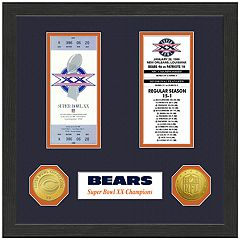 Highland Print Chicago Bears Framed Super Bowl Ticket