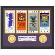 Highland Print Minnesota Vikings Framed Super Bowl Ticket