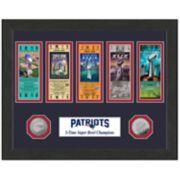 Highland Print New EnglandPatriots Framed Super Bowl Ticket
