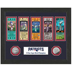 Highland Print New England Patriots Framed Super Bowl Ticket