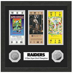 Highland Print Oakland Raiders Framed Super Bowl Ticket