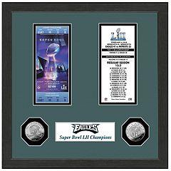 Highland Print Philadelphia Eagles Framed Super Bowl Ticket