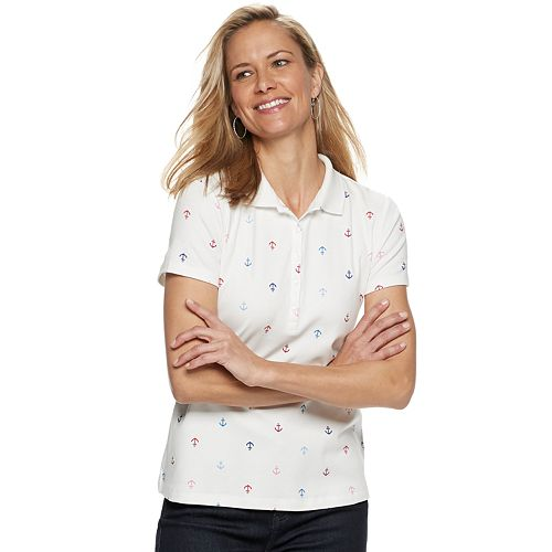 Women's Croft & Barrow® Easy Care Fade-Resistant Classic Polo