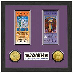 Highland Print Baltimore Ravens Framed Super Bowl Ticket