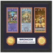 Highland Print Denver Broncos Framed Super Bowl Ticket