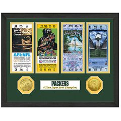 Highland Print Green Bay Packers Framed Super Bowl Ticket