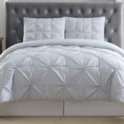 Truly Soft Everyday Gingham Pleat Comforter Set