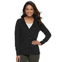 5c85367db6d Womens Black V-Neck Sweaters - Tops, Clothing | Kohl's