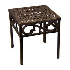 Oakland Living Lattice Patio End Table - Outdoor